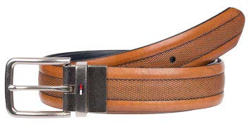 TOMMY HILFIGER FEATHER EDGE EMBOSS BELT