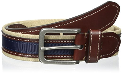 TOMMY HLIFIGER 1 3/8 IN. CANVAS AND RIBBON BELT 2018