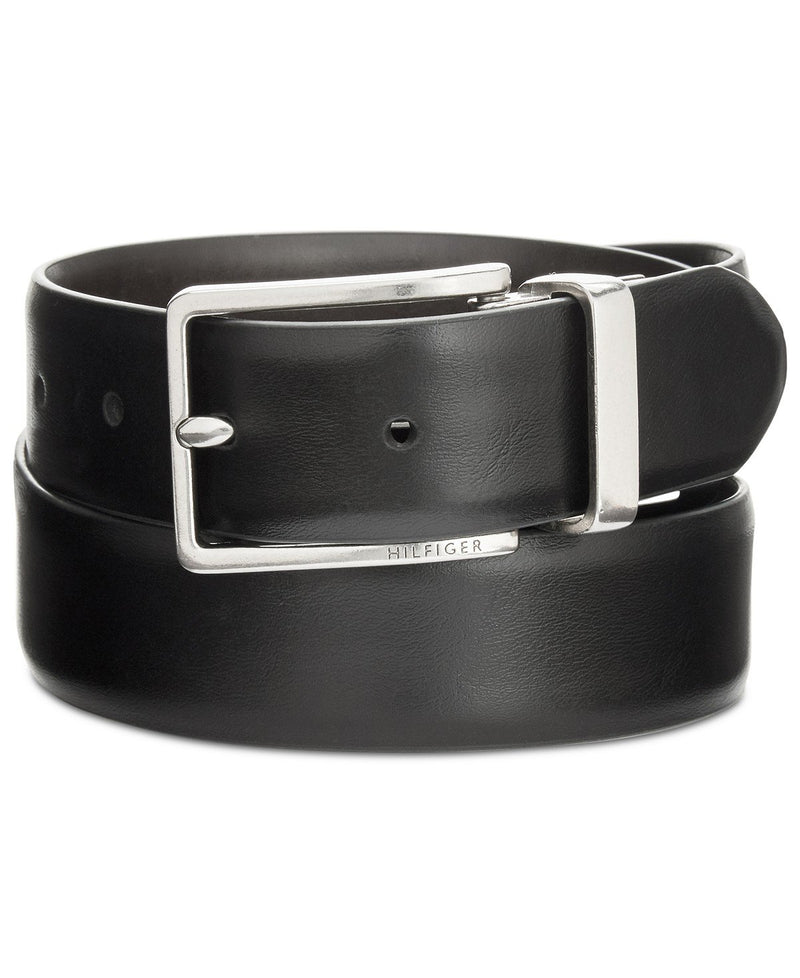 TOMMY HILFIGER FEATHER-EDGE REVERSIBLE BELT