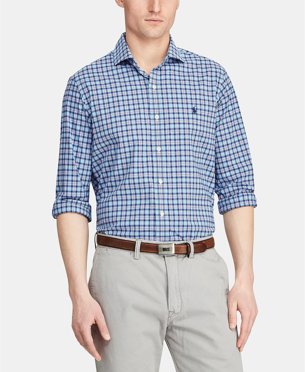 POLO RALPH LAUREN MEN'S CLASSIC FIT PLAID SPORT SHIRT