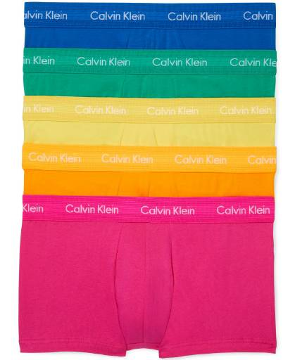 CALVIN KLEIN PRIDE LOW RISE TRUNK 5 PACK - NB1348