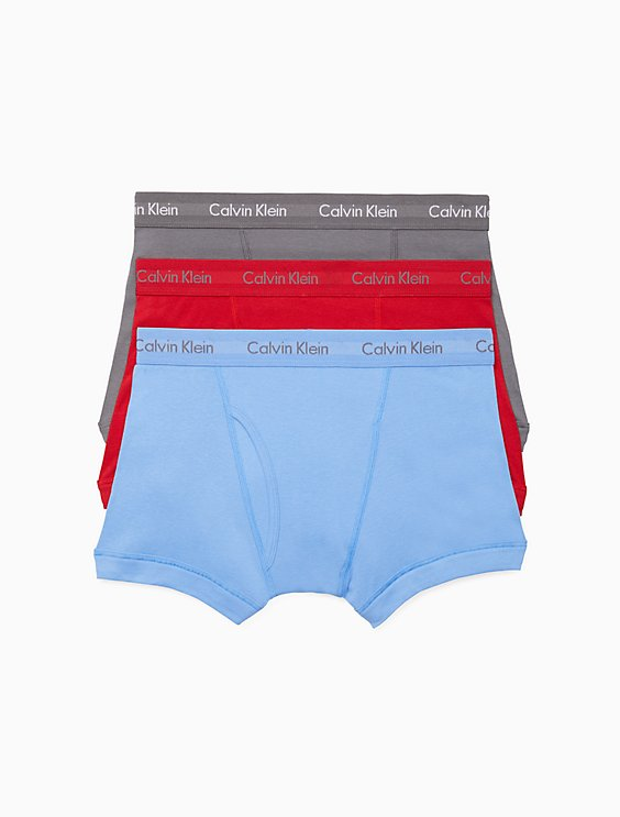 CALVIN KLEIN MEN'S COTTON 3-PACK TRUNKS NB1119