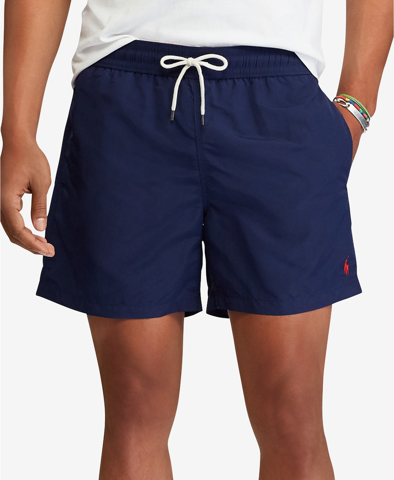 POLO RALPH LAUREN MEN'S TRAVELER SWIM TRUNKS