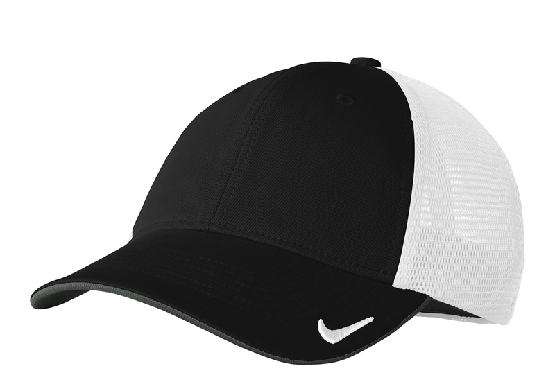 NIKE GOLF MESH BACK CAP II - Black/ White