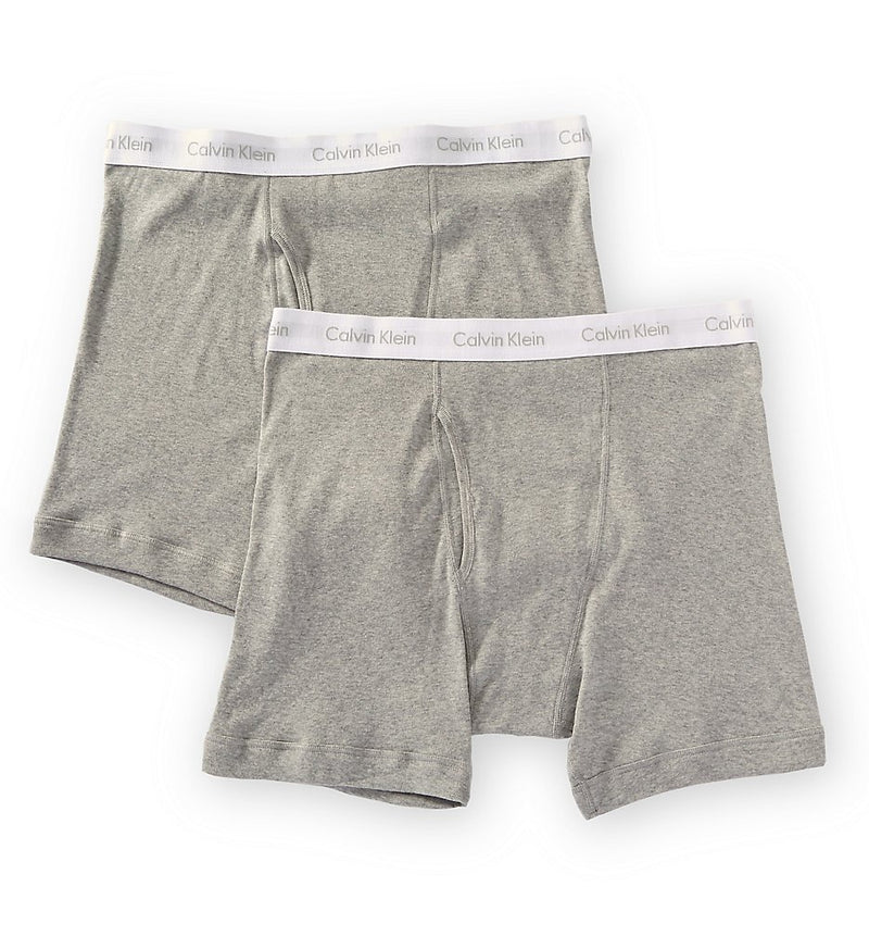 BIG AND TALL COTTON CLASSICS BOXER BRIEF 2 PACK NB1103 - HEATHER GREY