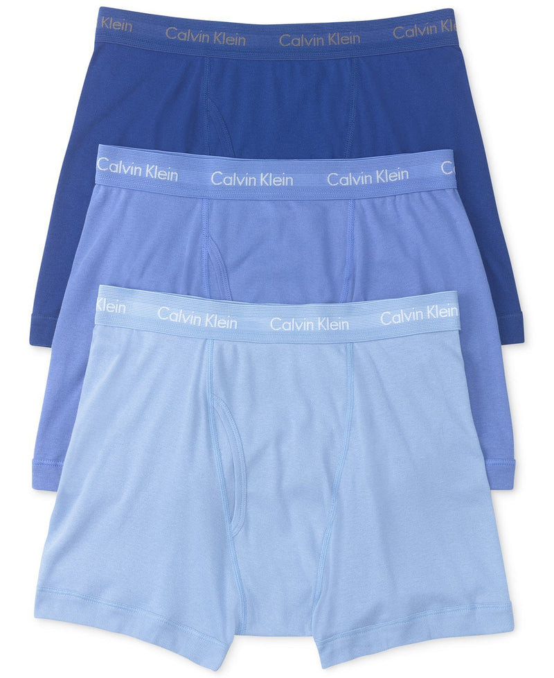 COTTON CLASSICS BOXER BRIEF 3 PACK NU3019 -BLUE DEPTHS/WATER REFLECTION/BOARDWALK BLUE