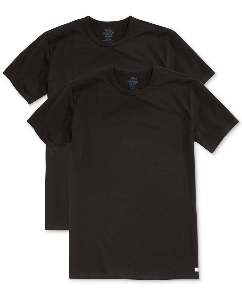 BIG AND TALL COTTON CLASSICS CREW TEE 2 PACK NU8580 - BLACK