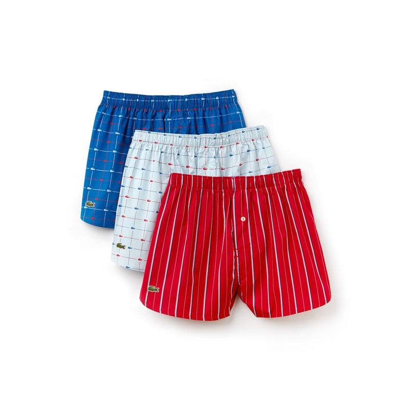 Men's 3 Pack Signature Print Woven Boxers