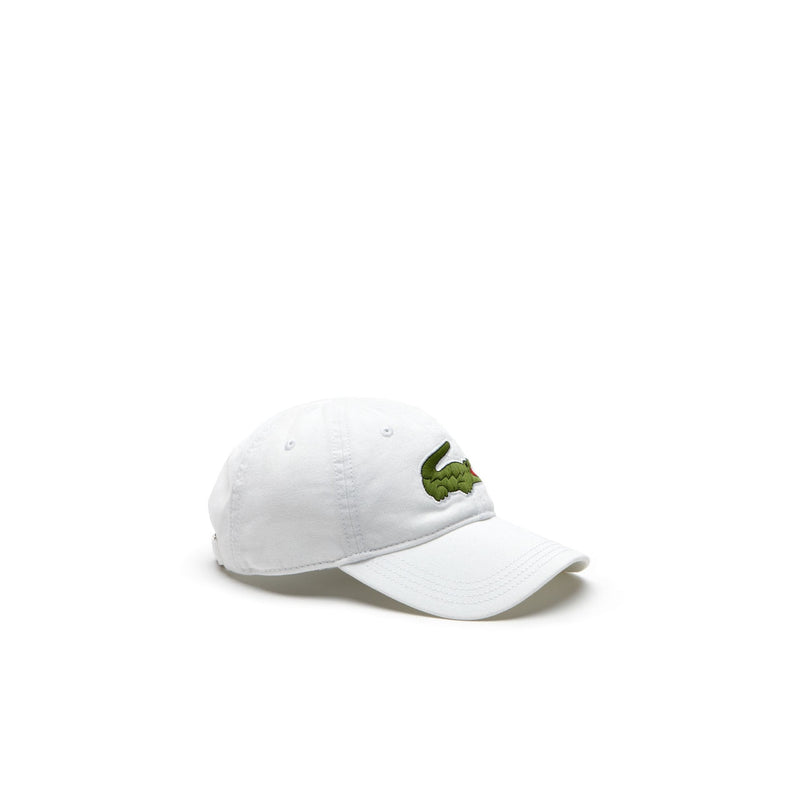 Men's Big Croc Gabardine Cap - White