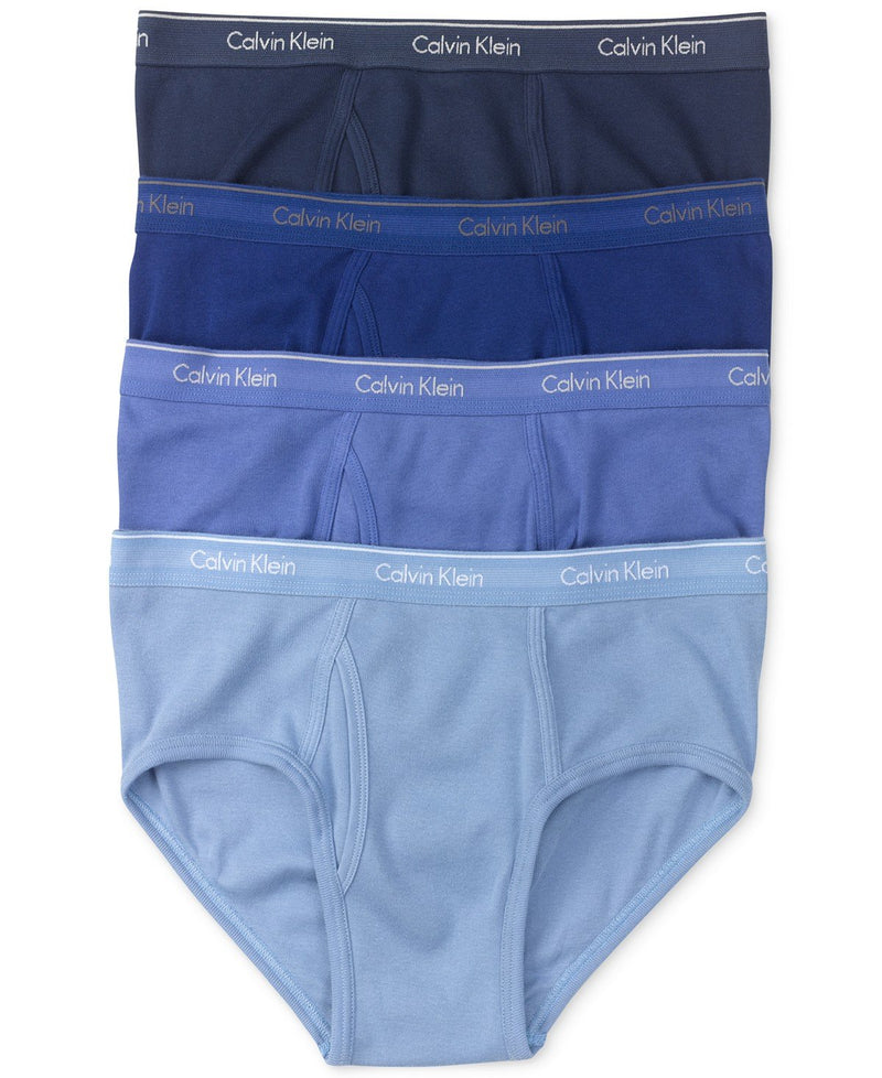 COTTON CLASSICS BRIEF 4 PACK U4000 - NAVY/BLUE DEPTHS/WATER REFLECTION/BOARDWALK BLUE