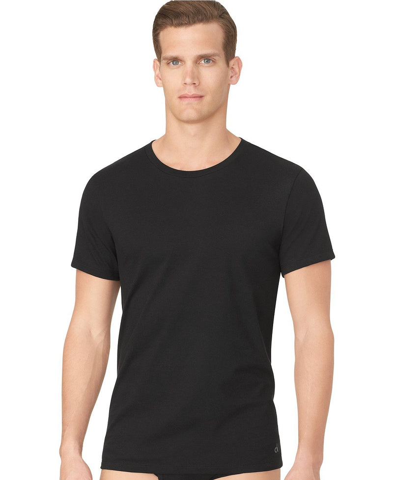COTTON CLASSICS S/S CREW NECK TEE 3 PACK U4001 - BLACK