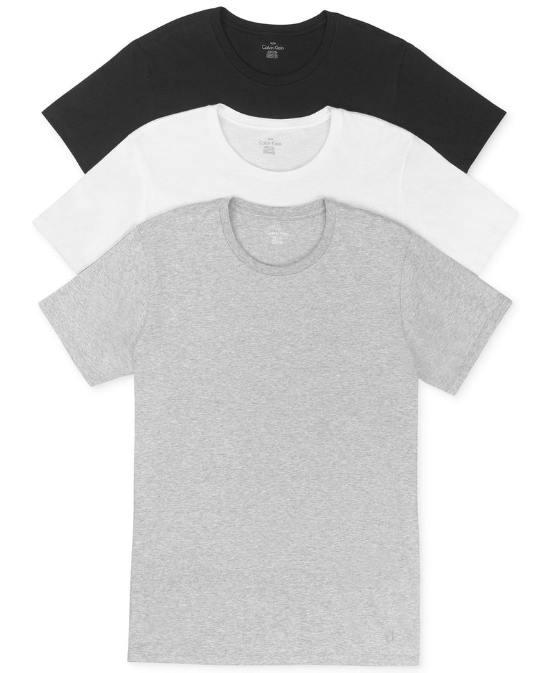 COTTON CLASSICS S/S CREW NECK TEE 3 PACK U4001 -BLACK/WHITE/HEATHER GREY