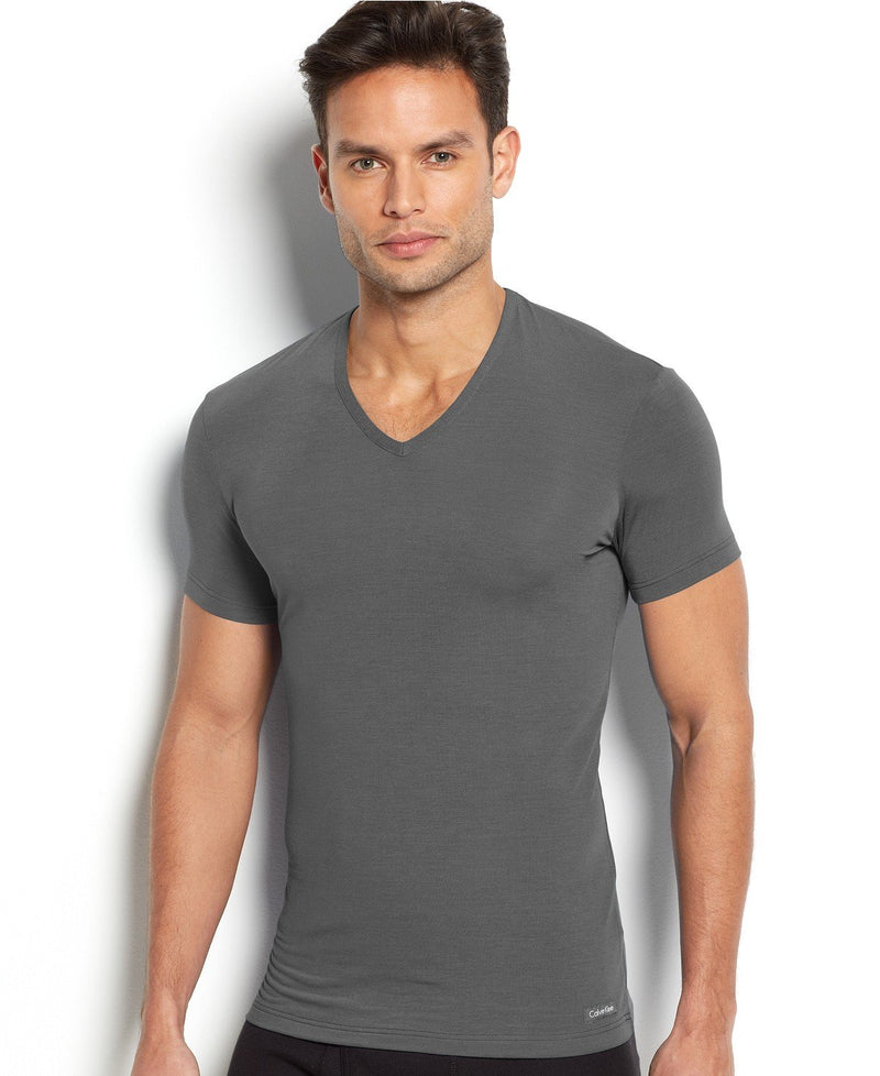 BODY MODAL -SLEEP/LOUNGE S/S V NECK TEE U5563 - MINK