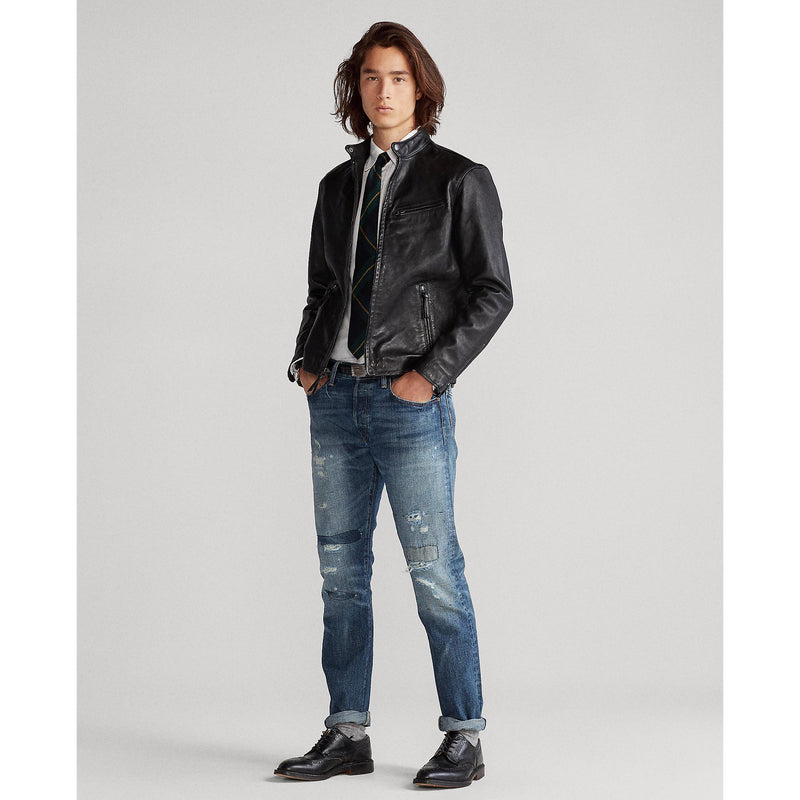 POLO RALPH LAUREN LAMBSKIN LEATHER CAFE' RACER JACKERT
