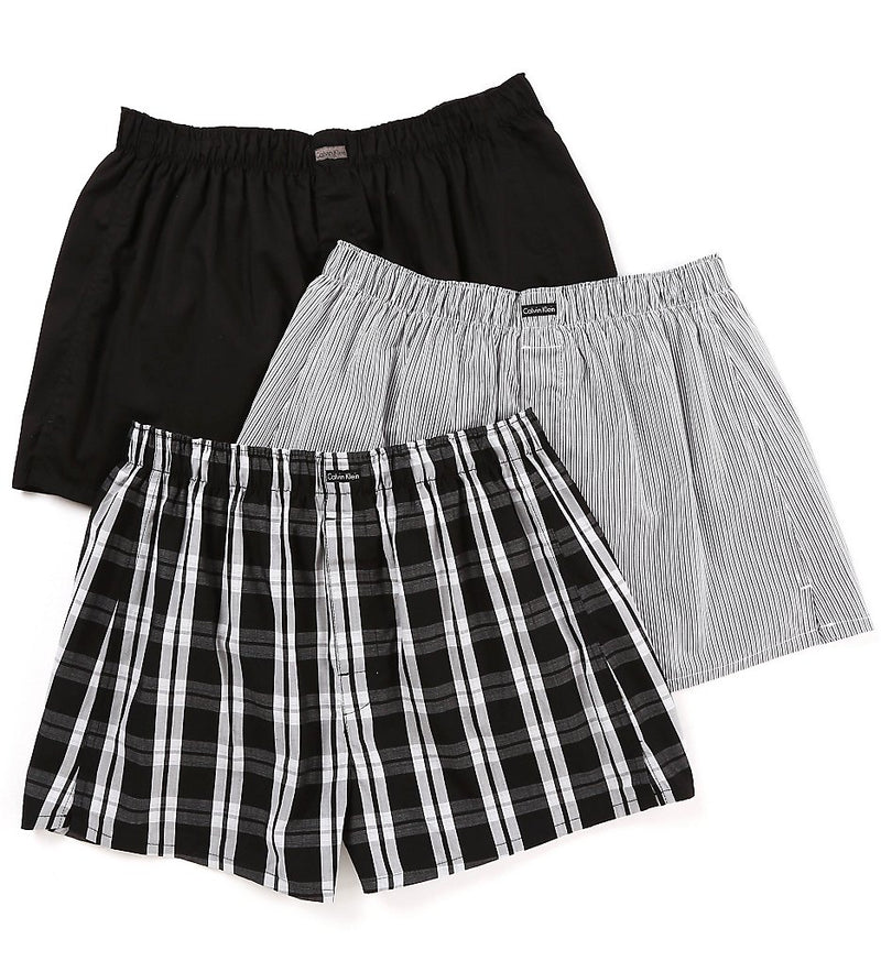 COTTONS CLASSICS WOVEN BOXERS 3 PACK U1732