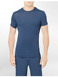 BODY MODAL - SLEEP/LOUNGE S/S CREW NECK TEE U5551 - BLUE SHADOW