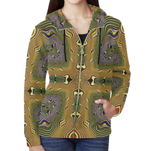 Ritual All Over Print Full Zip Hoodie for Women (Model H14)