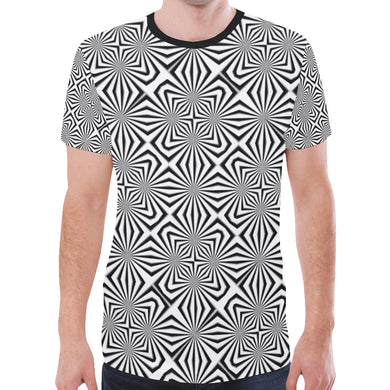 Fiber Optics New All Over Print T-shirt for Men (Model T45)
