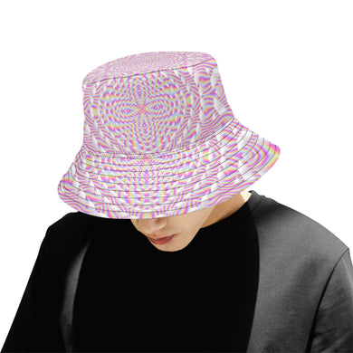 Pink Waves All Over Print Bucket Hat for Men