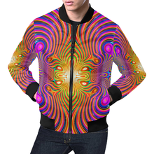 Energy Fields All Over Print Bomber Jacket for Men (Model H19)