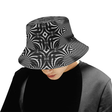 B+W All Over Print Bucket Hat for Men