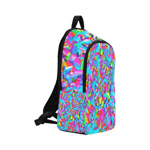 Rainbowbubbles Fabric Backpack for Adult (Model 1659)