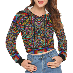 Generator All Over Print Crop Hoodie for Women (Model H22)