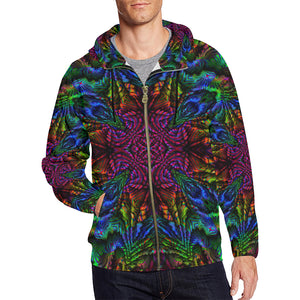 Subtropics All Over Print Full Zip Hoodie for Men (Model H14)