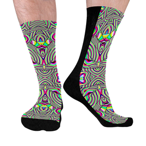 No Signal Mid-Calf Socks (Black Sole)