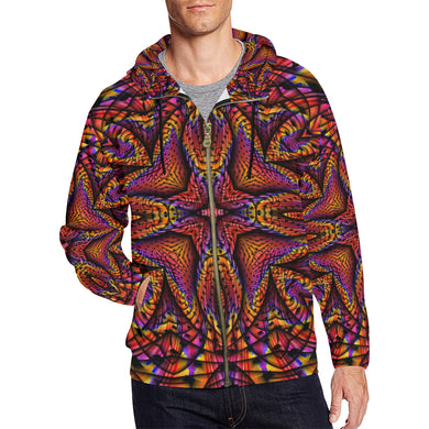 Elemental Fire All Over Print Full Zip Hoodie for Men (Model H14)
