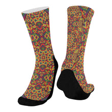 Beauty in Chaos Mid-Calf Socks (Black Sole)
