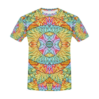 Eye of the Sun All Over Print T-Shirt for Men (USA Size) (Model T40)