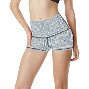 Elemental Air Women's All Over Print Yoga Shorts (Model L17)