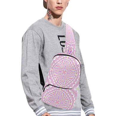 Pink Waves Chest Bag (Model 1678)