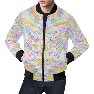 Pure Love All Over Print Bomber Jacket for Men (Model H19)