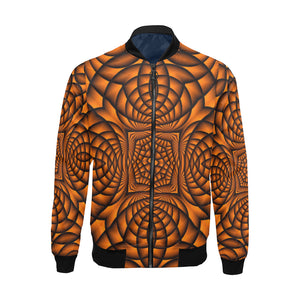 Pumpkin All Over Print Bomber Jacket for Men (Model H19)
