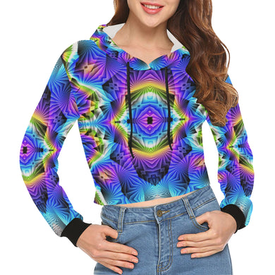 Synapse All Over Print Crop Hoodie for Women (Model H22)
