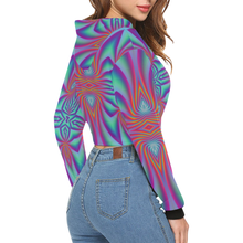 Spiral Factory All Over Print Crop Hoodie for Women (Model H22)