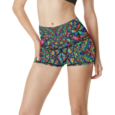 Meditative Thoughts Women's All Over Print Yoga Shorts (Model L17)