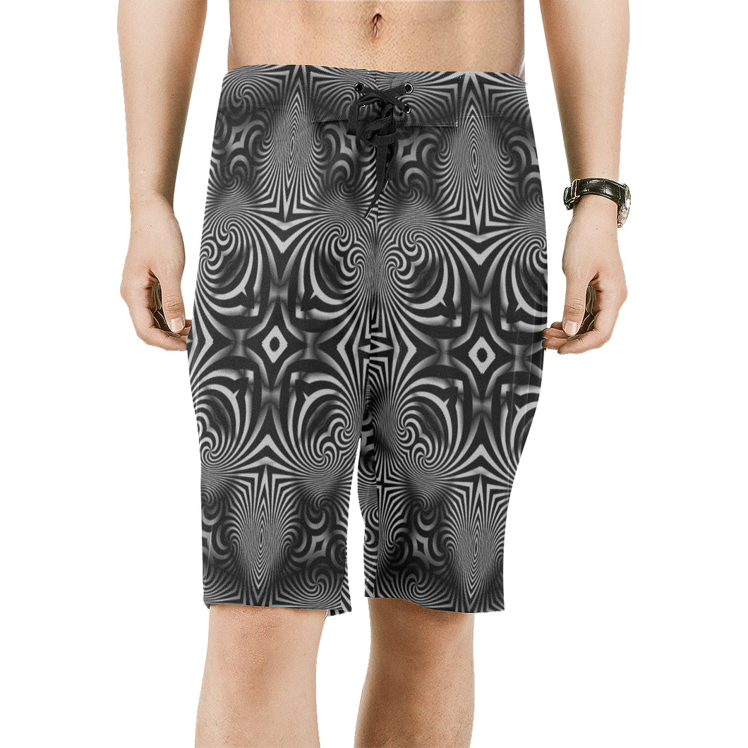 B+W Men's All Over Print Board Shorts (Model L16)