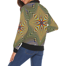 Tribal All Over Print Bomber Jacket for Women (Model H19)