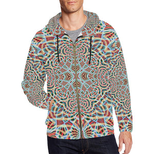 A Warm Place All Over Print Full Zip Hoodie for Men (Model H14)