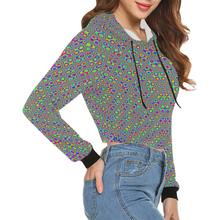 Neuron Stimulator All Over Print Crop Hoodie for Women (Model H22)