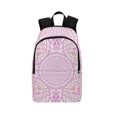 Pink Waves Fabric Backpack for Adult (Model 1659)