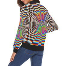 Psychosis All Over Print Bomber Jacket for Women (Model H19)