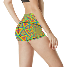Colorspiral Women's All Over Print Yoga Shorts (Model L17)