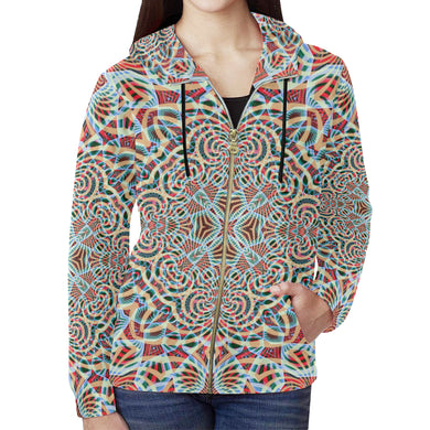 A Warm Place All Over Print Full Zip Hoodie for Women (Model H14)