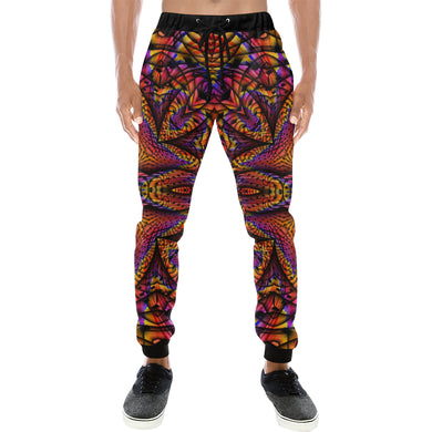 Elemental Fire Men's All Over Print Sweatpants (Model L11)
