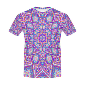 Delicate All Over Print T-Shirt for Men (USA Size) (Model T40)