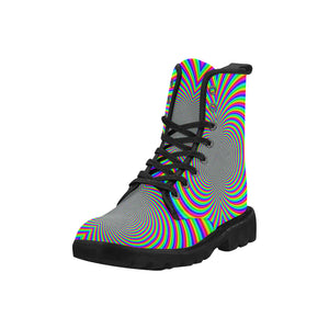 Hypnotizer Martin Boots for Women (Black) (Model 1203H)